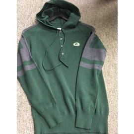 Cutter & Buck Green Bay Packers Women's Hooded Henley Sweater