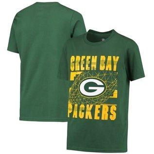 Outerstuff Green Bay Packers Youth Flight Plan Short Sleeve Shirt