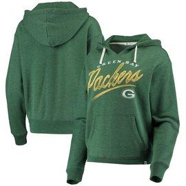 '47 Brand Green Bay Packers Women's Cross Script Emerson Pullover Hoodie
