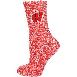 Zoozatz Wisconsin Badgers Marled Slipper Socks