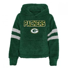Outerstuff Green Bay Packers Youth Girls Huddle Up Sherpa Hoodie