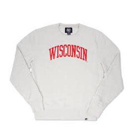 '47 Brand Wisconsin Badgers Men's Dune Block Arch Headline Crewneck Sweatshirt