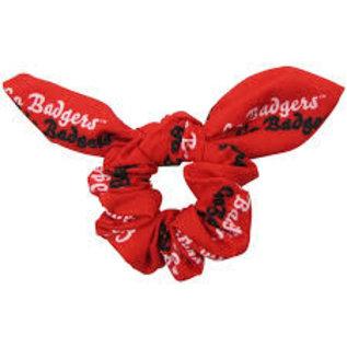 Zoozatz Wisconsin Badgers Scrunchie With Bow