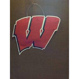 Wisconsin Badgers Hanging Burlap W