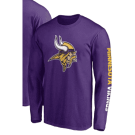 Fanatics Minnesota Vikings Men's Block Party Front Runner Long Sleeve Tee
