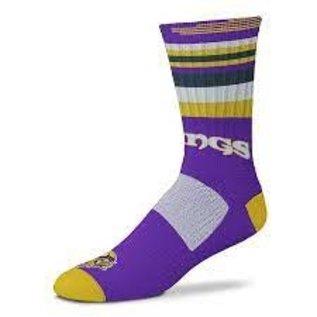 For Bare Feet Minnesota Vikings Men's Rave Socks Large