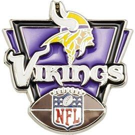Minnesota Vikings Pin - Head, Vikings, Football