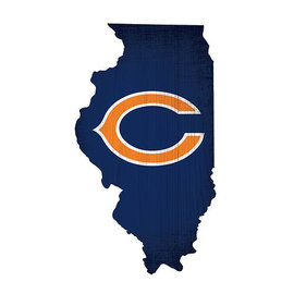 Fan Creations Chicago Bears 12 Inch Color State