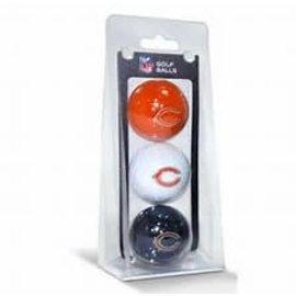 Chicago Bears 3 Pack Golf Balls