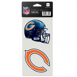 WinCraft, Inc. Chicago Bears 2 Pack 4x4 Perfect Cut Decals