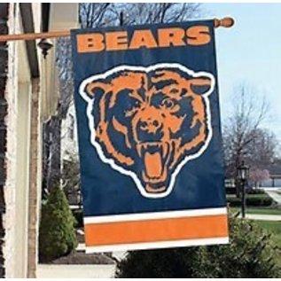 Chicago Bears 44x28 2-Sided Banner Flag