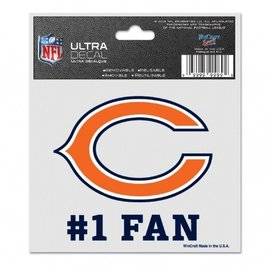WinCraft, Inc. Chicago Bears 3x4 Multi-use Decal #1 Fan