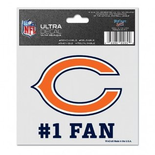 WinCraft, Inc. Chicago Bears 3x4 Multi-use Decal #1 Fan