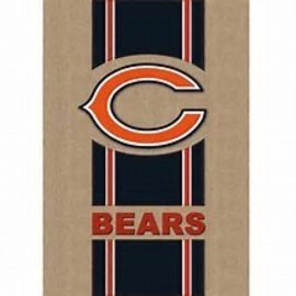 Chicago Bears Burlap Banner Flag