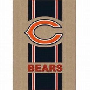 Evergreen Enterprises Chicago Bears Burlap Banner Flag