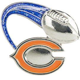 Chicago Bears C Football Pin