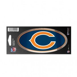 WinCraft, Inc. Chicago Bears Chrome Decal 3X7