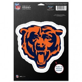 WinCraft, Inc. Chicago Bears Diecut Magnet - Bear Head