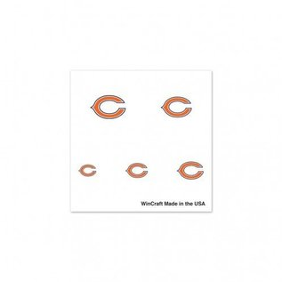 Chicago Bears Fingernail Tattoos