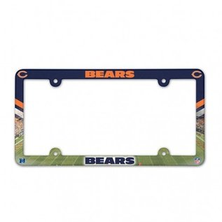 WinCraft, Inc. Chicago Bears Full Color Plastic License Plate Frame