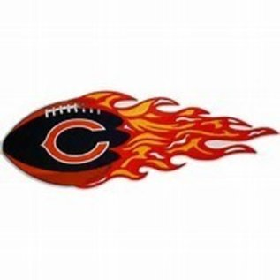 Chicago Bears Large Magnetic Flames