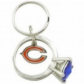 Aminco Chicago Bears Bling Ring Keychain