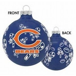 Boelter Brands LLC Chicago Bears Round Ball Ornaments with Candy Canes