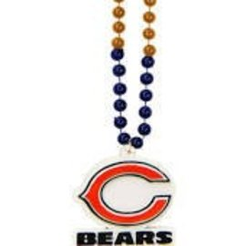 Chicago Bears sports beads with medallion