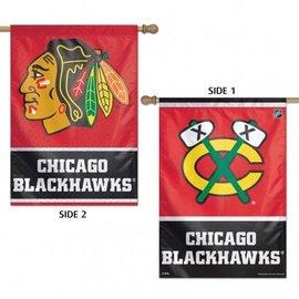 WinCraft, Inc. Chicago Blackhawks 2 Sided Vertical Flag