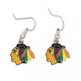 WinCraft, Inc. Chicago Blackhawks Dangle Earrings