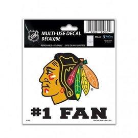 WinCraft, Inc. Chicago Blackhawks 3x4 Multi-use Decal #1 Fan