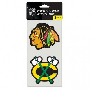 WinCraft, Inc. Chicago Blackhawks Perfect decal 2 pack