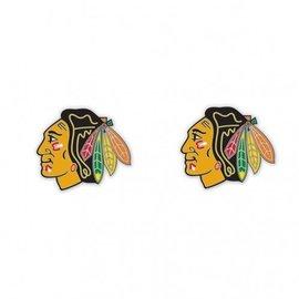 WinCraft, Inc. Chicago Blackhawks Post Earrings