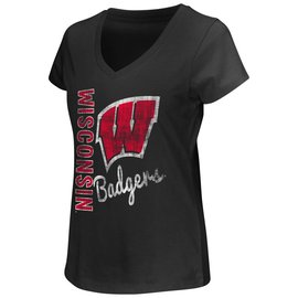 Wisconsin Badgers Women's Yemen V Neck Short Sleeve Tee