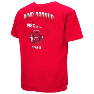 Colosseum Wisconsin Badgers Youth Golden Boy Short Sleeve Tee