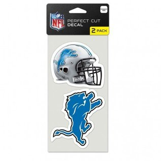 WinCraft, Inc. Detroit Lions 2 Pack 4x4  Perfect Cut Decals