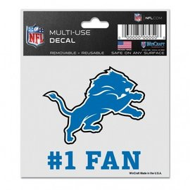 WinCraft, Inc. Detroit Lions 3x4 Multi-use Decal #1 Fan