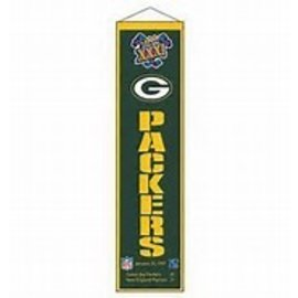 Green Bay Packer Super Bowl 31 Wool Banner