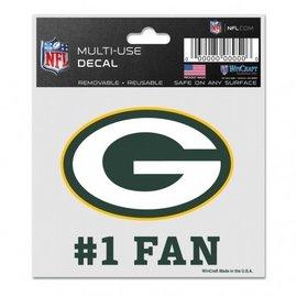 Green Bay Packers #1 Fan  Decal
