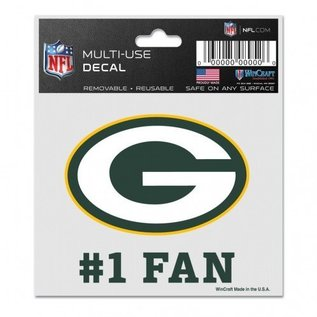 WinCraft, Inc. Green Bay Packers 3x4 Multi-use Decal #1 Fan