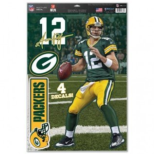 WinCraft, Inc. Green Bay Packers 11x17 Aaron Rodgers decal sheet
