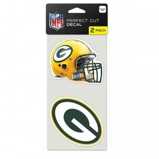WinCraft, Inc. Green Bay Packers 2 Pack 4x4 Perfect Cut Decals