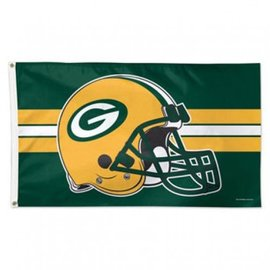 Green Bay Packers 3x5 Deluxe Flag - Helmet