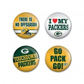 Green Bay Packers 4 Pack of Buttons