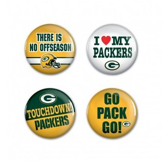 WinCraft, Inc. Green Bay Packers 4 Pack  Buttons