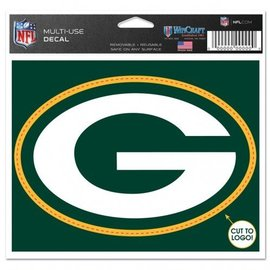 WinCraft, Inc. Green Bay Packers 4.5x5.75 Multi-use Decal - G