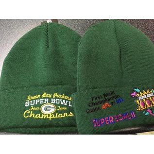 New Era Green Bay Packers 4X SuperBowl Champ Knit Cuffed Hat