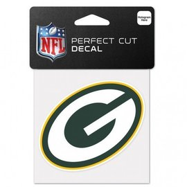 Green Bay Packers 4x4 Perfect Cut Decal - G