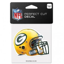 WinCraft, Inc. Green Bay Packers 4x4 Perfect Cut Decal - Helmet