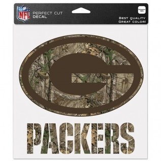 WinCraft, Inc. Green Bay Packers 8x8 Perfect Cut Decal - Camo